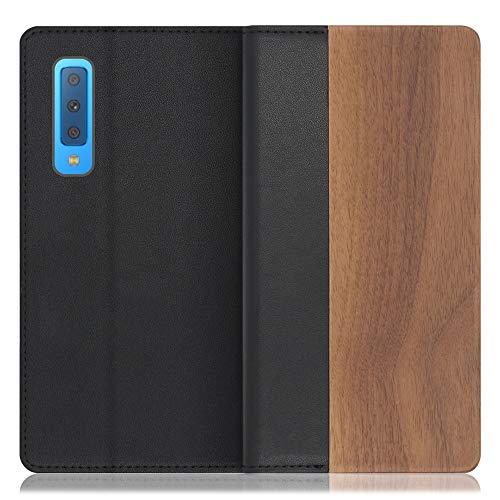 LOOF Nature Galaxy A7 / SM-A750C ケース 手帳型 カバー 天然木 本革 ウッド 手帳型ケース 手帳型カバー 携帯ケース 携帯カバー スマホケース スマホカバー ベルト無し 木製 スタンド機能付き カード収納 カードポケット