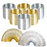 THE TWIDDLERS Pack of 12 Metal Coil Spring Set - Stretchy & Bouncing Silver and Gold Metal Coil Spring - Ideal for Kid's Birthday Christmas Party, Gifts, Party Bags, Prices and More
