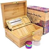 Wooden Stash Box Bundle, Rolling Tray, Jar, Grinder Rolling Kit, Rolling Tray Stash Box with Lock, Rolling Tray Bundle, Bamboo Rolling Tray with Lid, Accessories, Wood Storage Set, Locking Stash Box
