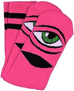 Toy Machine Skateboard Socks Sect Eye Neon Pink Crew