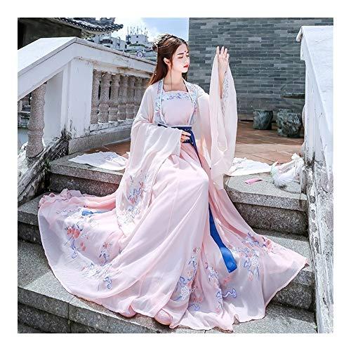 FKJSP Vestido chino, disfraz de hanfu tradicional, hanfu bordado vintage para mujer, manga larga para fiesta, sesión de fotos, baile de cosplay (color: estilo 14, tamaño: M)