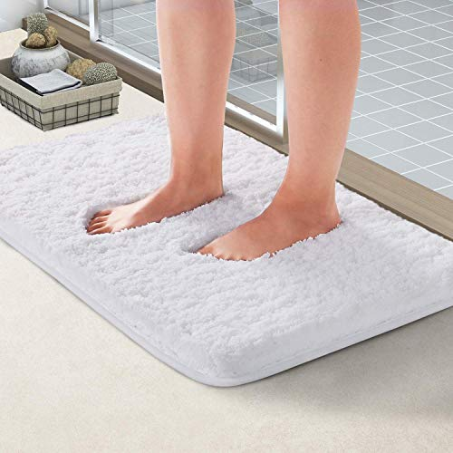 NORCHO Soft Shaggy Bath Mat Non-Slip Rubber Bath Rug Luxury Microfiber Bathroom Floor Mats ...