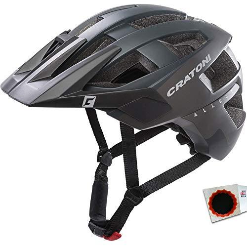 Cratoni Fahrradhelm AllSet (MTB) Gr. M/L (58-61cm) matt schwarz matt Fahrrad