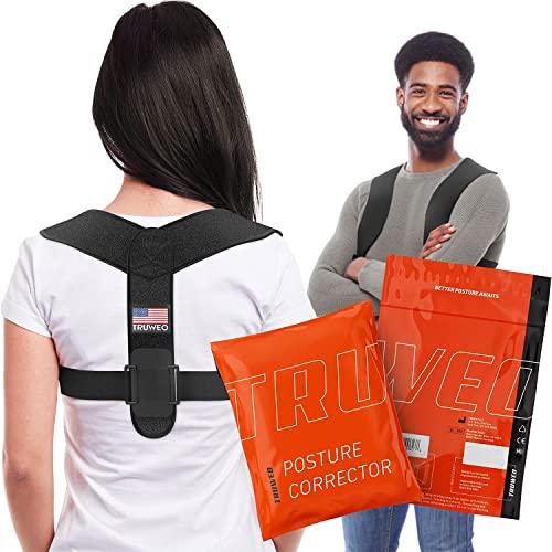 Haltungskorrektur für Männer und Frauen – verstellbare obere Rückenbandage für Schlüsselbein zur Unterstützung von Nacken, Rücken und Schulter (universelle Passform, US-Design-Patent)