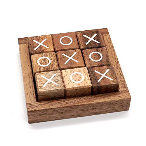 Tic Tac Toe for Kids and Adults Coffee Table Living Room Decor and Desk Decor Family Games Night...