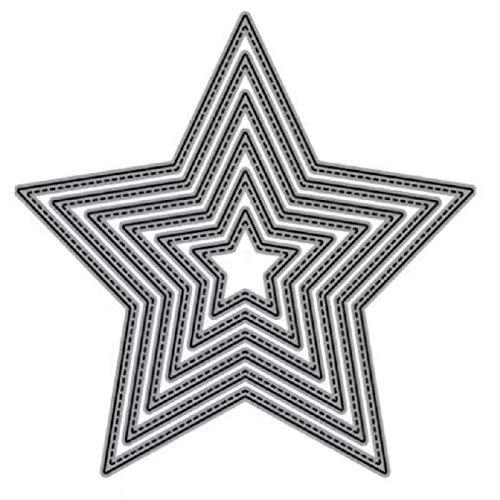 FSSQYLLX Artesanía de Papel Cuadrado en Forma de Estrella Rectangular Circular Proceso de Bricolaje Troquelado de Metal Papel de grabación en Relieve de álbum de Recortes