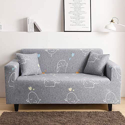 QWEASDZX Sofa Cover Combination-Furniture Protection Cover-Retractable Corner Sofa Cover-Dust-Proof, Stain-Proof And Wear-Resistant Sofa Cushion 2 Seater(145-185cm)