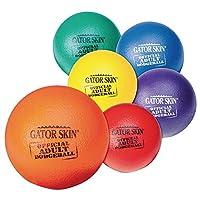 S&S Worldwide GATOR SKIN 公式大人用ドッジボール 6色セット 6個セット