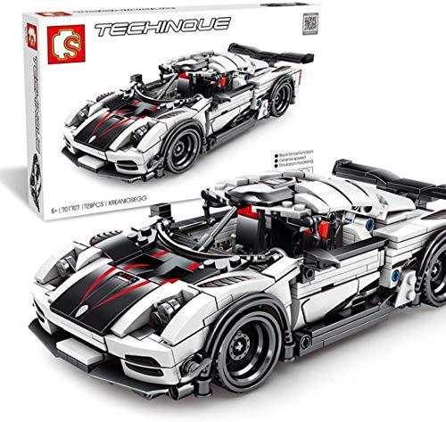 Msoah Technic Sports Car, 728 Piezas De Bloques De Construcción De Autos De Carrera Compatibles con Lego Technic