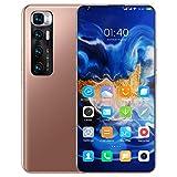 Smartphones SSS@ Teléfonos celulares desbloqueados M10 Ultra, 7.2 Pulgadas HD + 1200 * 2640 Pantalla con batería de 6000mAh, 4GB RAM + 128GB ROM, Dual Sim & Face ID Teléfono móvil Android 10.0