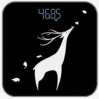 KLT Báscula de pesaje de grasa corporal balanza inteligente electrónica led digital peso balanza de baño balanza de alta precisión báscula de medición máxima 180kg negro cocina-B