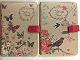 A5 Address Book - Beautiful Fabric Style - Butterfly or Chic Design