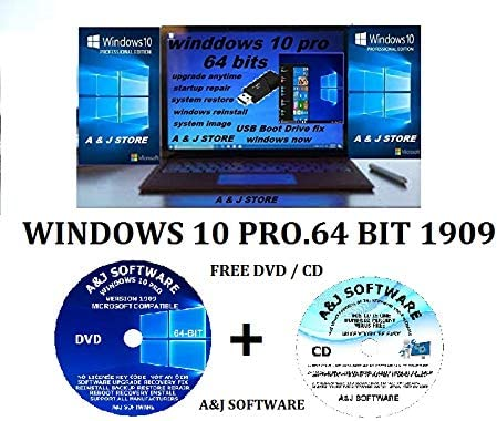 WINDOWS 10 PRO Deluxe Ranking TOP18 LATEST VERSION 1909 UPGRADE FIX RECOVERY R 64-BIT