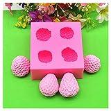 FBGood Silikonform für Kuchen, Backform, Silikon, Erdbeer-Modell, Werkzeug zum Backen, Basteln,...