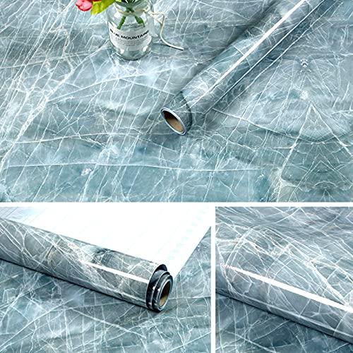 GKKXUE Kök marmor kontaktpapper PVC väggklistermärken marmor bänkskiva klistermärken badrum självhäftande vattentät tapet, E-10 m x 60 cm