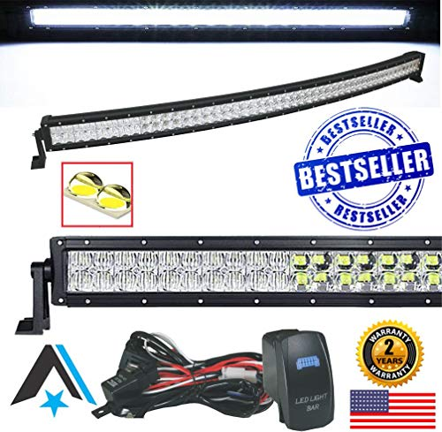 Arsenal #1 5D 40 inch Curved Pro Optics 228W 5D= 390W 39,000LM CREE LED Light Bar Offroad TM Spot Flood Combo Beam for Xtreme Offroad Trucks UTV SUV 4x4...