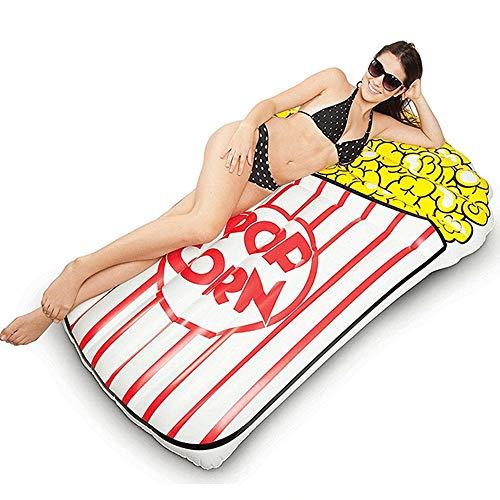 Grande Jumbo gigante gonfiabile popcorn sdraiato materasso saltare in su divertimento estivo piscina giocattolo lettino zattera ecologico PVC 115 * 170 cm
