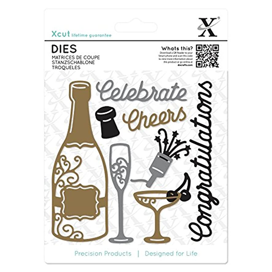 DOCrafts XCU503284 Xcut Champagne Celebration Decorative Die (10 Pack), Multicolor