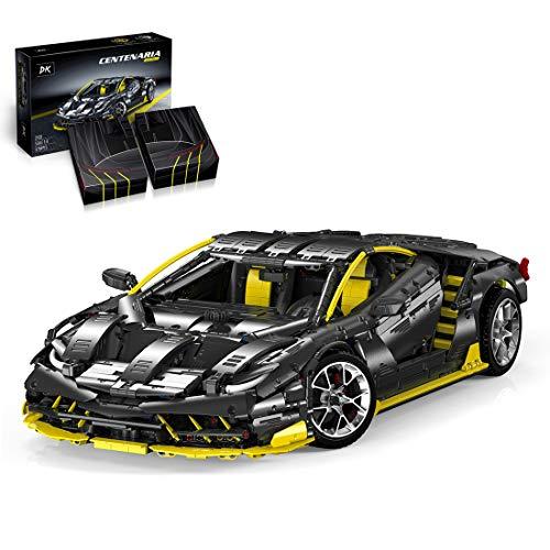 FADY Technik Klemmbausteine Sportwagen für Lamborghini Centenario, Auto Bauset Modell Kompatibel mit Lego Technic - 3789 Teile