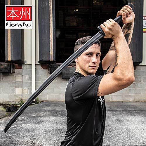 """Honshu Practice Katana - One-Piece Polypropylene Construction, Textured Handle, Mimics Real Katana, for Training - Length 41"""""""