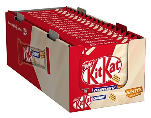 Nestlé KITKAT ChunKy White, knuspriger Schokoriegel, mit weißer Schokolade & knuspriger Waffel, Multi-Pack, 1er Pack (à 4 x 40g)