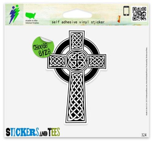 Celtic Cross Irish Vinyl Car Bumper Window Sticker 3' x 2'