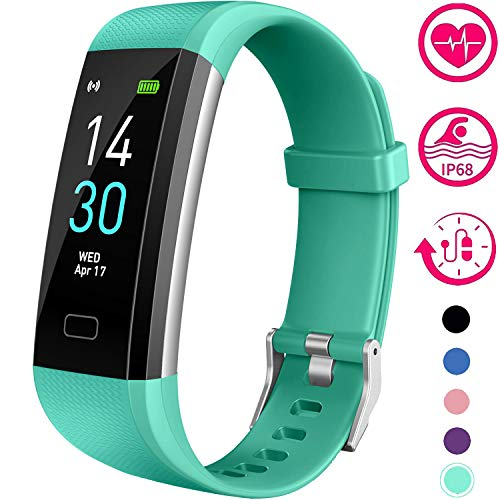 Vabogu Fitness Tracker HR, with Blood Pressure Heart Rate Monitor, Pedometer, Sleep Monitor, Calorie Counter, Vibrating Alarm, Clock IP68 Waterproof for Women Men (Green)