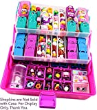shopkins organizer - SHOPAFUN Pink/Purple Shopkins Organizer / Small LOL Dolls / Shoppies / Mini MixieQs / Hatchimals - Mini Figure Playset Storage Case with 3D Gem Bling Stickers & Neoprene Play Mat - by Felix and Wise