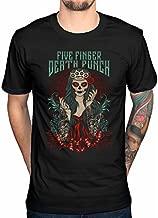 Five Finger Death Punch Lady Muerta T-Shirt (Medium) Black