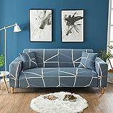 WXQY Funda de sofá elástica de Esquina Funda de sofá geométrica elástica Funda de sillón reclinable en Forma de L Funda de sofá Todo Incluido Antideslizante A5 1 Plaza