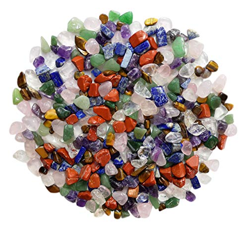 Mina Heal Chakra Stones Collection, Tumbled and Well Polished Healing Crystals/Gemstones (450 g (1 lb) Chakra Stones Size 10-20mm)