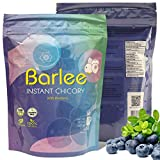 Barlee With Blueberry - Coffee Alternative Beverage Blend - Chicory Root Powder - Instant Chicory Coffee Substitute - No Sugar Caffeine Free Pack of 2 (14.10 oz total