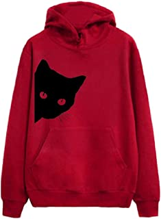 Hoodies Sweatshirt Women Autumn Streetwear Cat Print Hoodie Women Fashion Clothes Fashion Clothing Gift