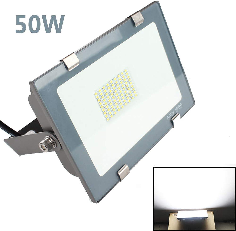 Baustrahler,50W LED Strahler,IP65 Arbeitsleuchte Akku Fluter Handlampe Kaltwei,Rasen, Tunnel