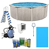 Cornelius Aquarian Phoenix 15ft x 52in Above Ground Swimming Pool, Pump and Ladder Set with Sand Filter Pump, Pool Liner, Skimmer, Ladder and Cleaning Kit