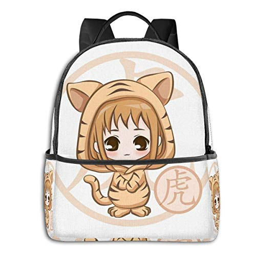 IUBBKI Chibi Kisa Tiger Zodiac Fruits Basket Student School Bag School Cycling Leisure Travel Camping Outdoor Backpack