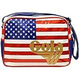 Gola Classics, Redford Glitter USA, Organizer borsa, Unisex adulto, Multicolore(Bianco/Blu/Rosso/Oro), 33x42x18