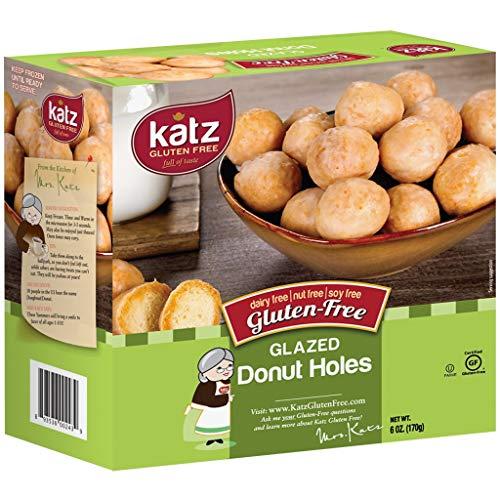 Katz Gluten Free Glazed Donut Holes | Dairy Free, Nut Free, Soy Free, Gluten Free | Kosher (1 Pack, 6 Ounce)
