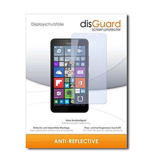 disGuard® Bildschirmschutzfolie [Anti-Reflex] kompatibel mit Microsoft Lumia 640 XL Dual Sim [4 Stück] Entspiegelnd, Matt, Antireflektierend, Extrem Kratzfest, Anti-Fingerabdruck - Panzerglas Folie, Schutzfolie