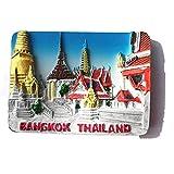 Aimant de réfrigérateur 3D Bangkok Thaïlande cadeau souvenir décoration maison et...