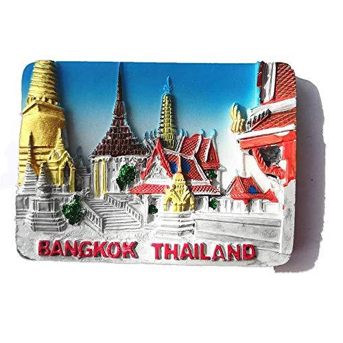 3D Bangkok Thailandia Frigo Magnete souvenir regalo, Casa e Cucina Decorazione adesivo magnetico Bangkok Thailandia frigorifero magnete collezione