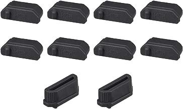 uxcell Silicone TV HDMI Male Port Anti-Dust Stopper Cap Cover Black 10pcs