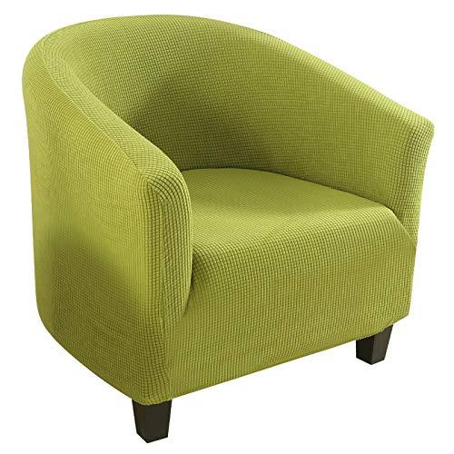 papasgix Sesselschoner Sesselüberwurf Sesselhusse Sesselbezug Jacquard Elastisch Stretch Sofahusse Husse für Clubsessel Loungesessel Cocktailsessel (Maiskorn Jacquard, Apfelgrün)
