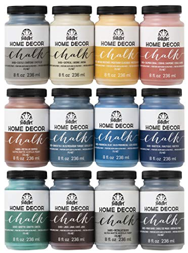 FolkArt Home Decor Ultra Matte Chalk Finish Acrylic Craft Paint Set Formulated for No-Prep Application, Designed for Beginners and Artists