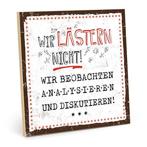 TypeStoff Cartel de madera con texto en inglés 'Llamar - Vintage - Regalo y decoración de temática divertida y grosera (tamaño: 19,5 x 19,5 cm)