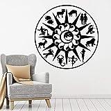 Zodiac Sign Wall Decal Astrology Symbols Sun Moon Doors and Windows Vinyl Stickers Children's Bedroom Kindergarten Interior Decoration Wallpaper