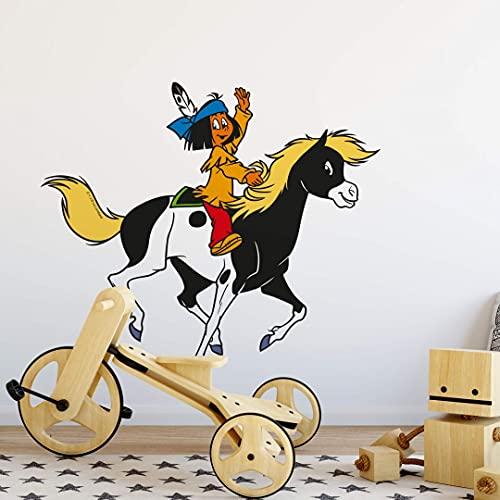 wall-art Wandtattoo - Yakari mit Kleiner Donner - Größe: 55x50 cm