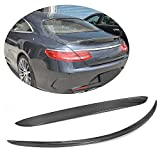 MCARCAR KIT Rear Spoiler fits Mercedes Benz S Class C217 S500 S550 S63 S65 AMG Coupe 2014-2018 Factory Outlet Carbon Fiber CF Trunk Boot Roof Window Wing Lip