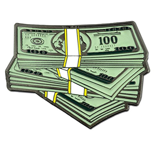 PinMart Stack of $100 Dollar Bills Money Trendy Enamel Lapel Pin
