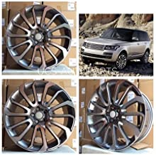 NEW 22 Inch x 9.5 Wheels Rims 5 lug Gunmetal Machined Face compatible with LAND ROVER RANGE HSE SC SUPERCHARGED WR-16 17 Set of 4